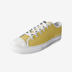 Anointed. Gold Low Top Canvas Shoes