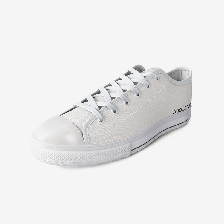 Anointed. Whites Unisex Low Top Canvas Shoes
