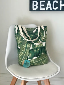 Shopping/Tote Bag - Green Palm