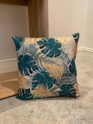 Cushion - Green and Gold Palms