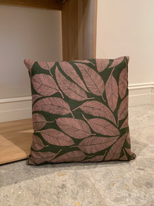 Cushion - Olive and Blush