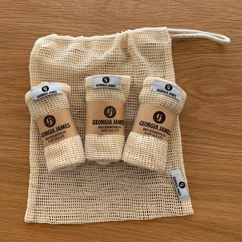 Organic Cotton Wash Bags
