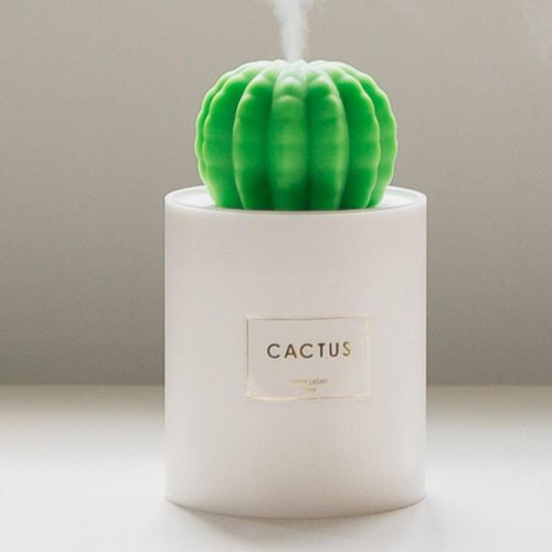 280ml USB Air Humidifier Cactus Timing Aromatherapy