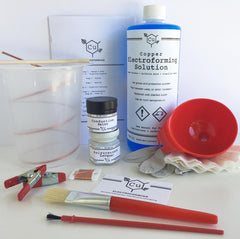 Electroforming kits | Learn how to electroform | How to Electroform | Electroplating Leaves | Learn to Electroform Crystals | Copper Electroforming Solution | DYI Electroforming Conductive Paint | Learning How to Plate Jewelry