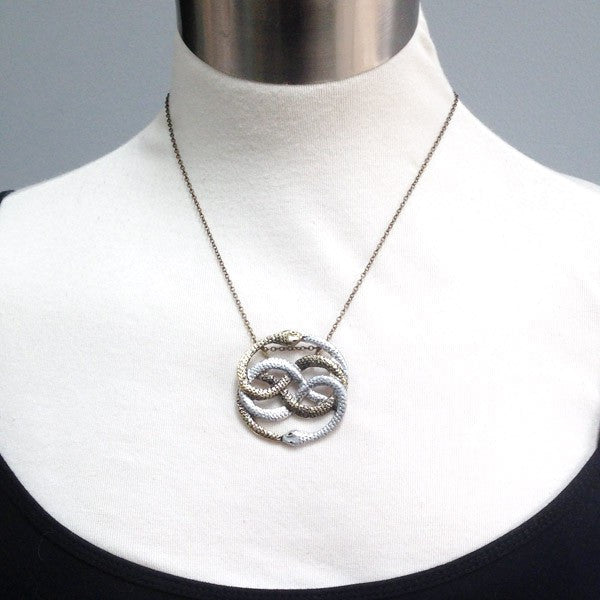 Auryn Necklace | Neverending Story Necklace | 80's Fantasy Pendant - Enchanted Leaves - Nature Jewelry - Unique Handmade Gifts