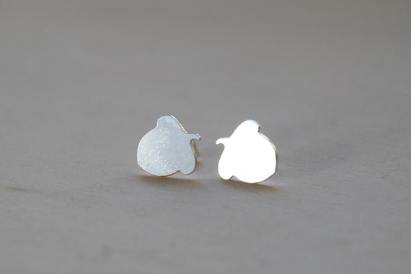 Silver Acorn Stud Earrings | Fall Forest Jewelry | Autumn Acorn Earrings - Enchanted Leaves - Nature Jewelry - Unique Handmade Gifts
