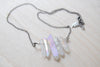 Angel Aura Crystal Point Bib Necklace / Titanium Crystal Necklace