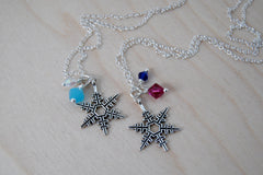 Snowflake Sisters BFF Necklaces | Anna and Elsa Best Friend Necklaces|  -TWO Necklaces-