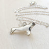 Silver Beluga Whale Necklace