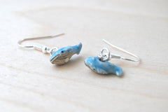 Tiny Blue Whale Earrings