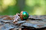 Sylvan Magic Acorn Necklace | Iridescent Green Fall Acorn | Nature Jewelry - Enchanted Leaves - Nature Jewelry - Unique Handmade Gifts