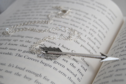 Stay Alive | Silver Arrow Pendant | Boho Arrow Necklace - Enchanted Leaves - Nature Jewelry - Unique Handmade Gifts