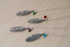 Birds of a Feather BFF Necklace (Sold Singly) | Silver Feather Charm | Nature Bridesmaid Gifts | Best Friend Charm Necklace