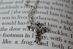 Silver Frog Necklace | Frog Charm Necklace | Cute Frog Jewelry