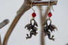 Dragon Earrings | Brass Dragon Charm Earrings | Fantasy Jewelry - Enchanted Leaves - Nature Jewelry - Unique Handmade Gifts