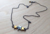Hematite Star Trio Necklace