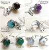 Gemstone Birthstone Acorn Necklace