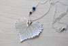 Large Fallen Silver Cottonwood Leaf Necklace | REAL Cottonwood Leaf Pendant | Silver Electroformed Pendant | Nature Jewelry - Enchanted Leaves - Nature Jewelry - Unique Handmade Gifts
