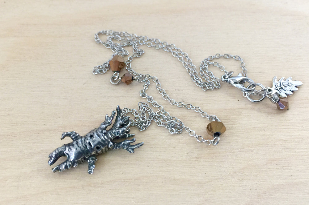 Silver Mandrake Charm Necklace | Harry Potter Necklace | Mandrake Root Pendant - Enchanted Leaves - Nature Jewelry - Unique Handmade Gifts