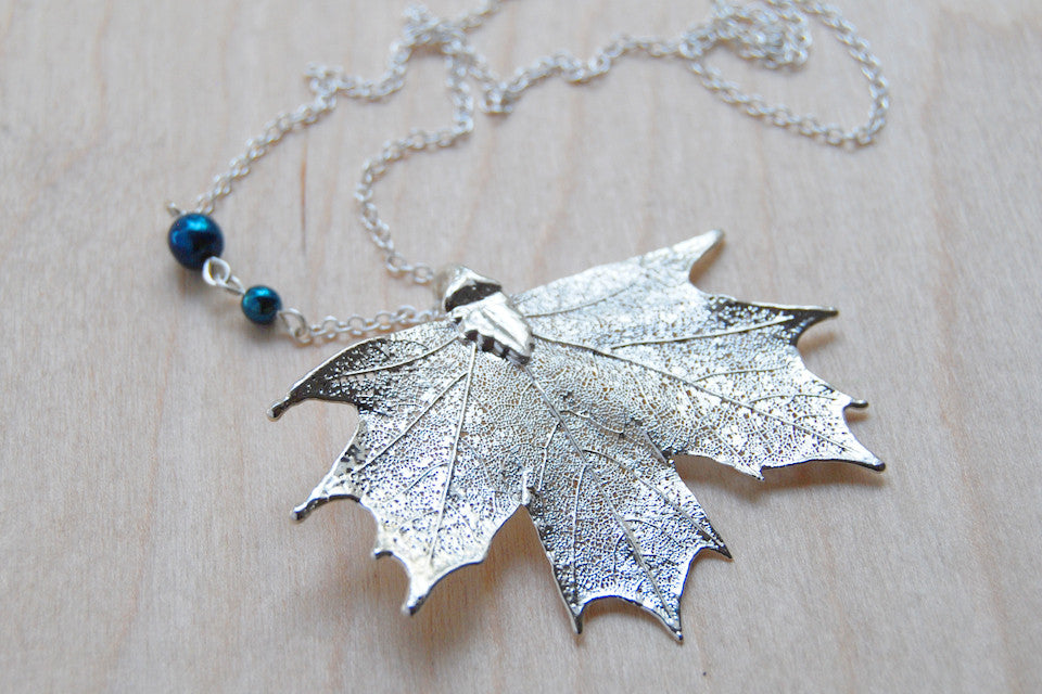 pendent maple leaf pendant amos necklace pewter