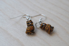 Tiny Night Owl Earrings