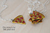 Pizza by the Slice | BFF Necklace | Best Friend Charm Necklace | Pizza Necklace (Sold Singly) - Enchanted Leaves - Nature Jewelry - Unique Handmade Gifts