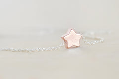 Little Rose Gold Star Necklace | Cute Little Star Charm Necklace | Simple Jewelry | Rose Gold Charm