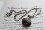 Brass Shell Locket | Shell Charm | Mermaid Necklace - Enchanted Leaves - Nature Jewelry - Unique Handmade Gifts