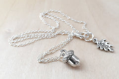 Sweet Little Silver Acorn Necklace