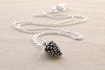 Delicate Silver Pine Cone Necklace | Pinecone Necklace | Silver Forest Pine Cone Charm | Pine Cone Pendant - Enchanted Leaves - Nature Jewelry - Unique Handmade Gifts