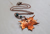 Small Fallen Copper Maple Leaf Necklace