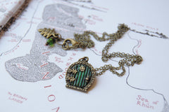 Small Bag End Hobbit Door Necklace | Hobbit Door Charm | Lord of the Rings Necklace | -Mini Size-