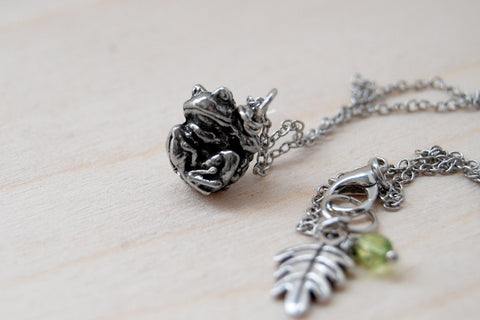 Teeny Tiny Toad Necklace