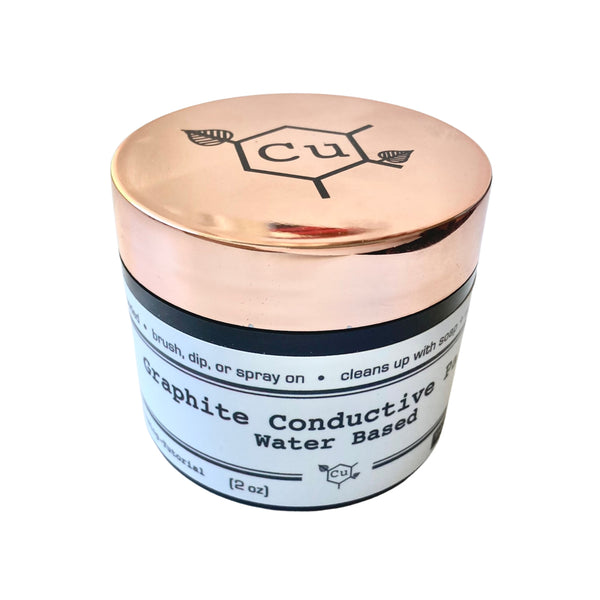 Water Base Conductive Paint for Electroforming | 2oz Jar Graphite Conductive Paint for Electroformed Jewelry | Copper Electroforming Supply