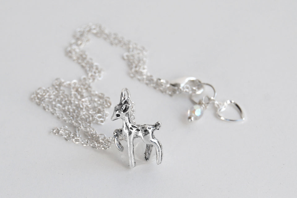 Always | Silver Deer Necklace | Patrounus Necklace | Harry Potter Necklace - Enchanted Leaves - Nature Jewelry - Unique Handmade Gifts