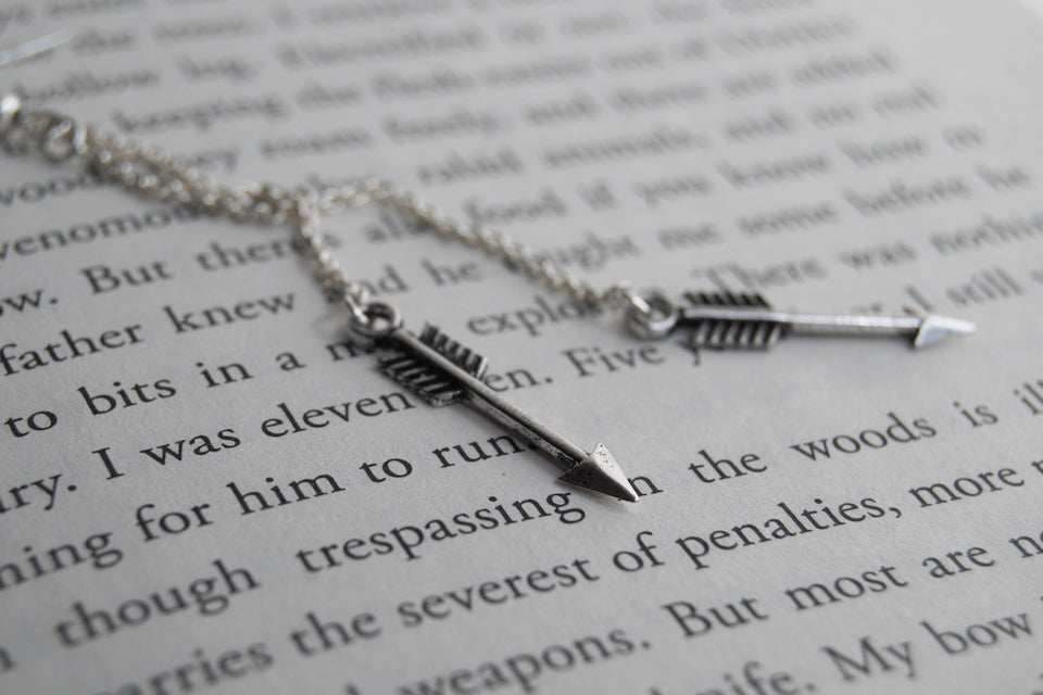 Arrow Earrings | Cute Arrow Earrings | Silver Arrow Charms - Enchanted Leaves - Nature Jewelry - Unique Handmade Gifts