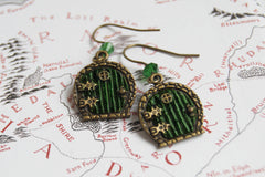 Bag End Hobbit Door Earrings