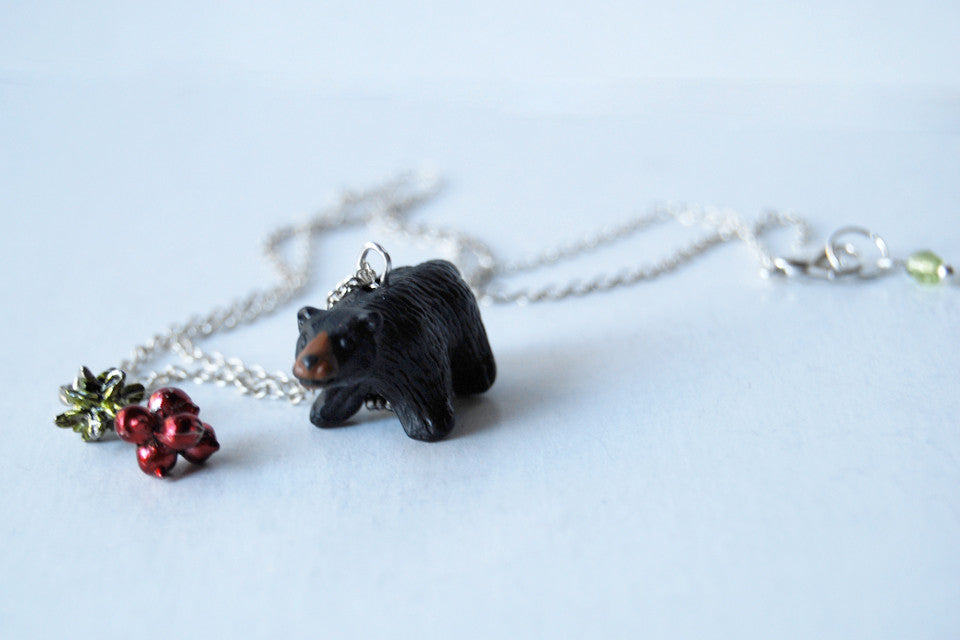 Bears Eat Beets | The Office Fan Necklace | Black Bear Necklace | Dwight Schrute Necklace - Enchanted Leaves - Nature Jewelry - Unique Handmade Gifts