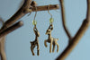 Little Brass Deer Earrings | Forest Deer Earrings | Deer Charm