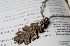 Brass Oak Leaf Necklace