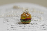 Itty Bitty Burger Necklace | Hamburger Charm Necklace | Cute Food Jewelry - Enchanted Leaves - Nature Jewelry - Unique Handmade Gifts