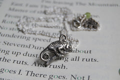 Chameleon Necklace | Cute Chameleon Charm Jewelry | Silver Chameleon