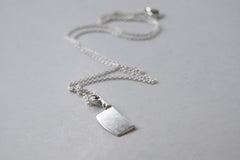 Chef's Cleaver Necklace | Silver Knife Charm Necklace | Cute Cooking Jewelry