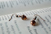 Tiny Copper Acorn Earrings - Enchanted Leaves - Nature Jewelry - Unique Handmade Gifts