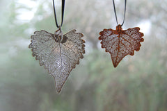 Real Cottonwood Leaf Ornament  | Electroformed Nature | Fall Leaf Ornament | Nature Gift