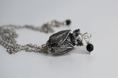Adorable Bat Necklace | Silver Bat Necklace | Cute Bat Charm
