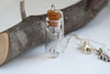 Four Wishes | Dandelion Wish Bottle Necklace | Whimsical Dandelion Terrarium Necklace