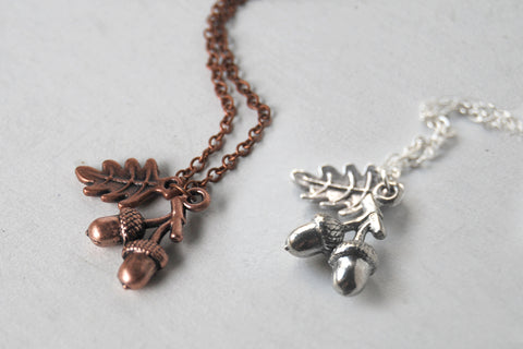 Twin Acorn Necklace