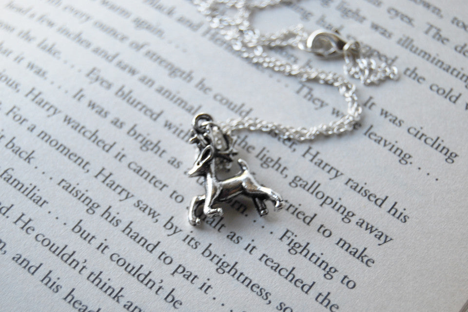 Expecto Patronum! | Harry Potter Necklace | Stag Patronus Charm Necklace - Enchanted Leaves - Nature Jewelry - Unique Handmade Gifts