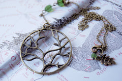 Fangorn Forest | Brass Tree Charm Necklace | Woodland Forest Pendant